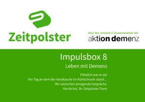 Titelblatt Impulsbox 8 Demenz